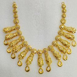 916 Gold Indian Design Necklace Set MJ-N009
