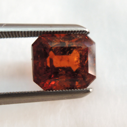 3.83ct rectangle natural hessonite-gomed KBG-G004