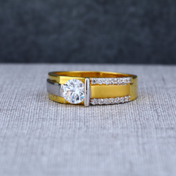 Mens Designer 916 Solitaire Engagement Gold Ring -MSR06
