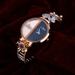 Ladies Gold Diamond Watch-RLW50