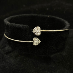 Delicate Heart Shape Diamond Bracelet