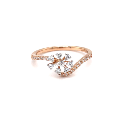 Daily wear fancy diamond ring in hallmark rose gold