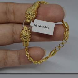 Gold Fancy Gents Bracelates by Sneh Ornaments