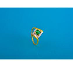 916 gold cz design colour stone ladies ring
