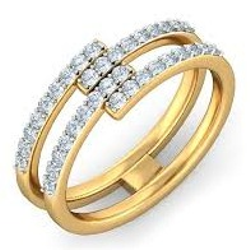 Contemporary diamond ring LR 004