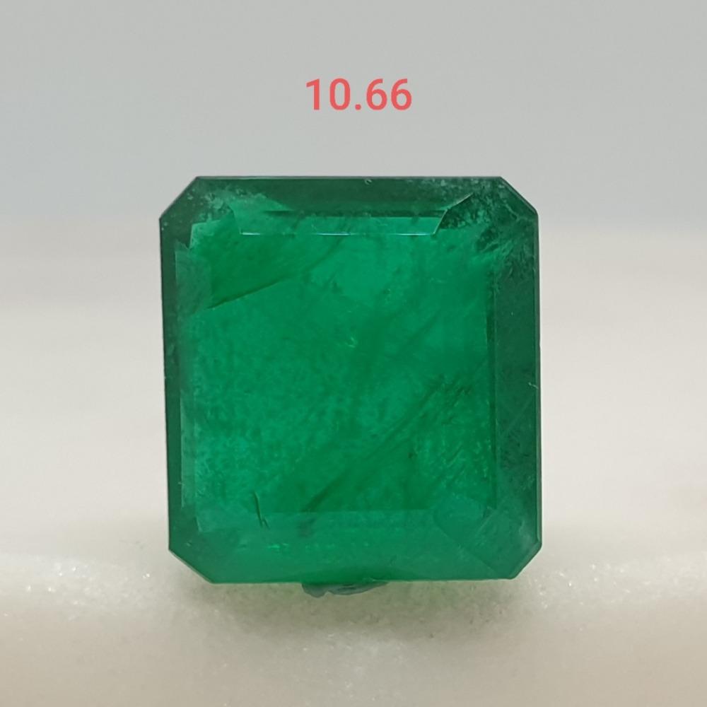10.66ct square green emerald-panna VG-E04