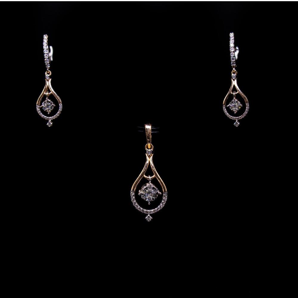 18k  gold diamond light-weight pendant set agj-ps-193