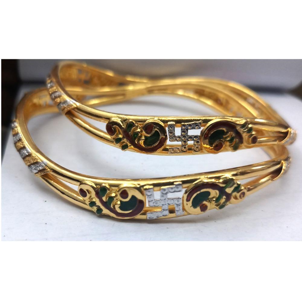 916 Gold Fancy Double Pipe Copper Kadali