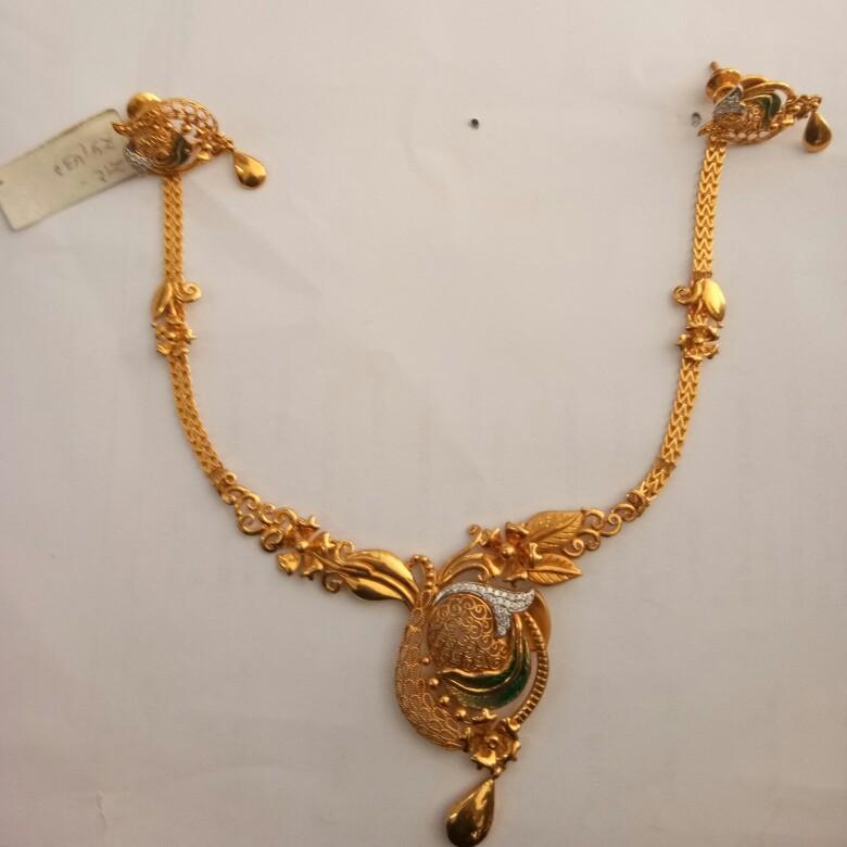 916 Gold hallmark Necklaceset ZS7304