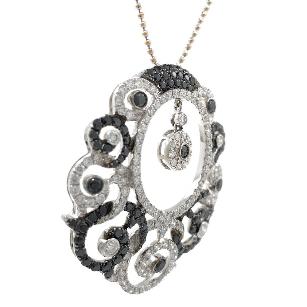 Maravillosa black & white diamond pendant in white gold shp19