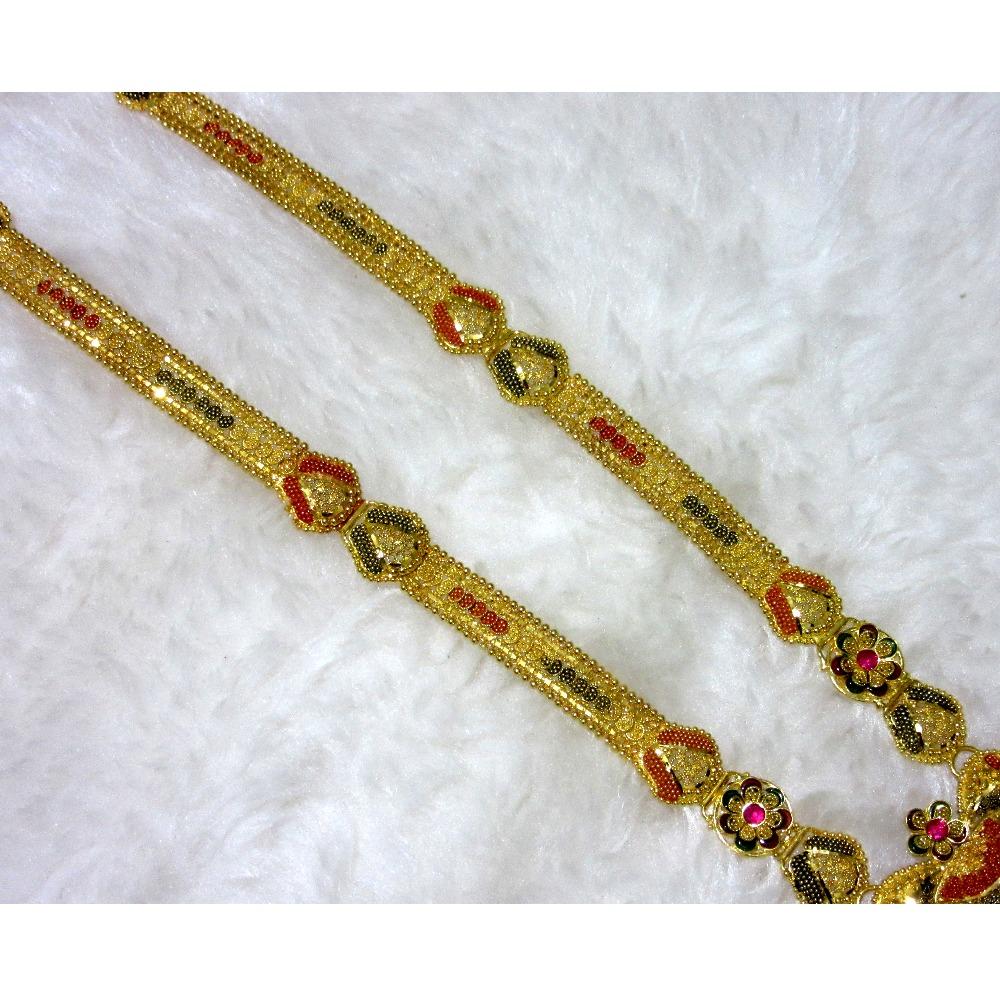 Gold 22k hm916 colorful long culcutti set