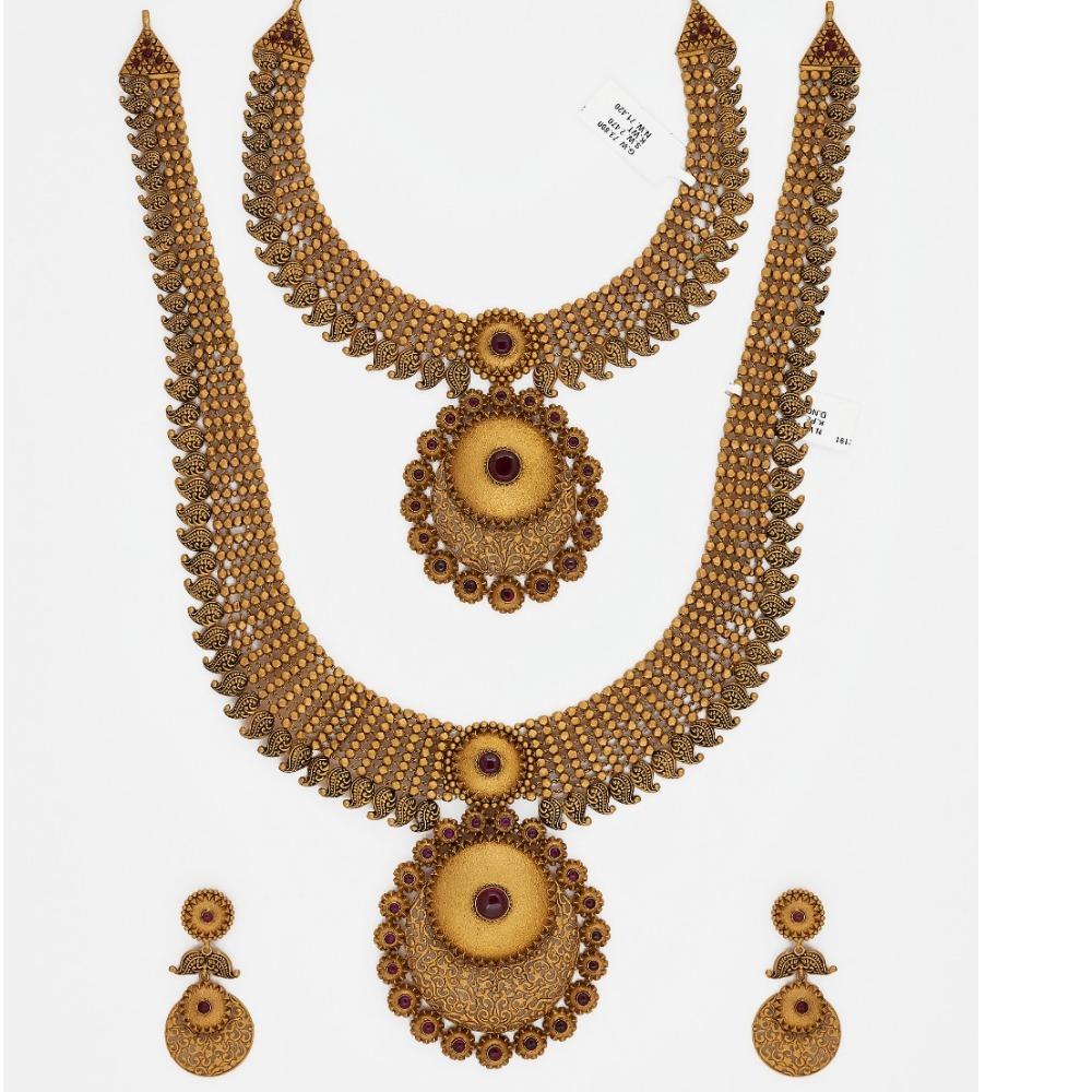 916 Gold long Bridal Necklace Set sJ-9090