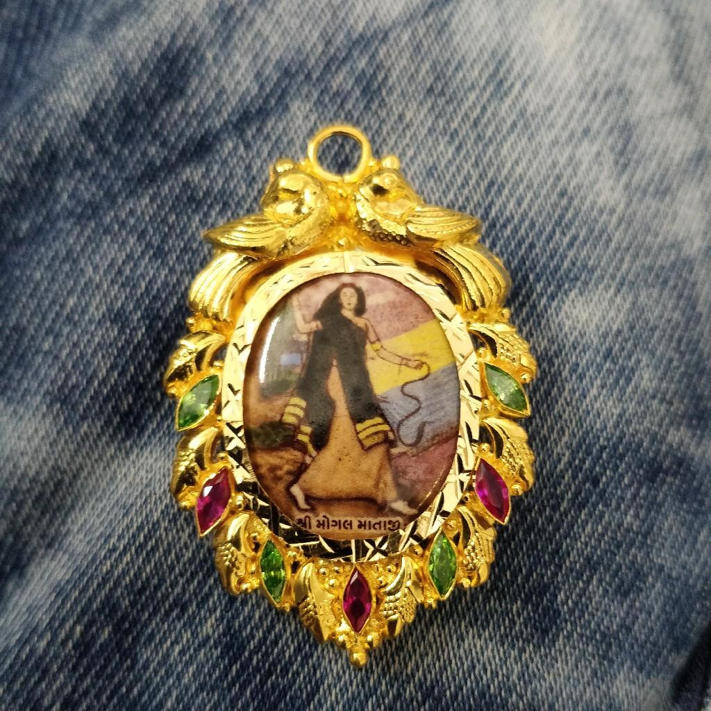916 Gold Fancy Photo Fram Pendant