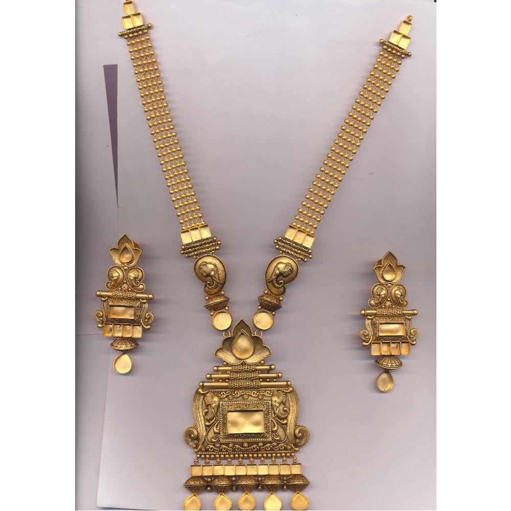 916 Gold Elephant Design Ranihar Khokha PJ-N011