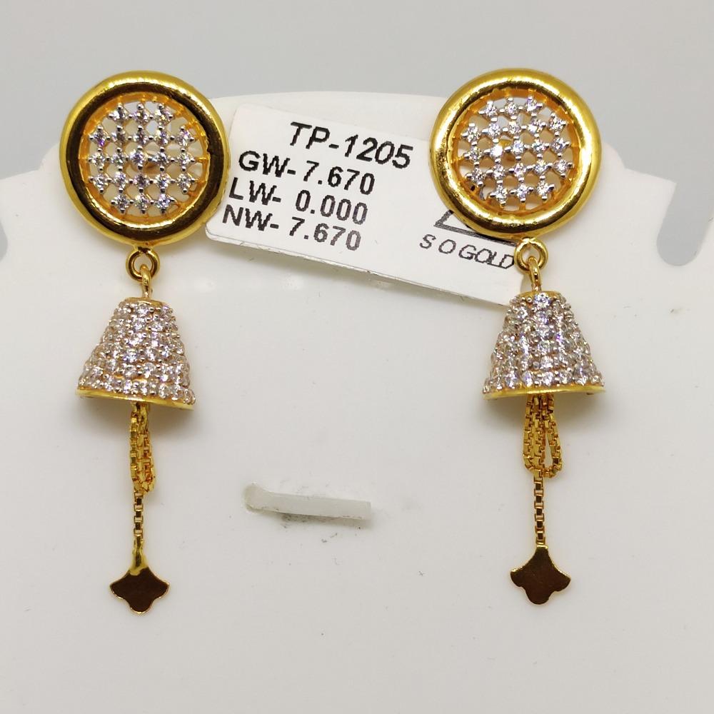 22KT Gold latkan Earring sOG-e002