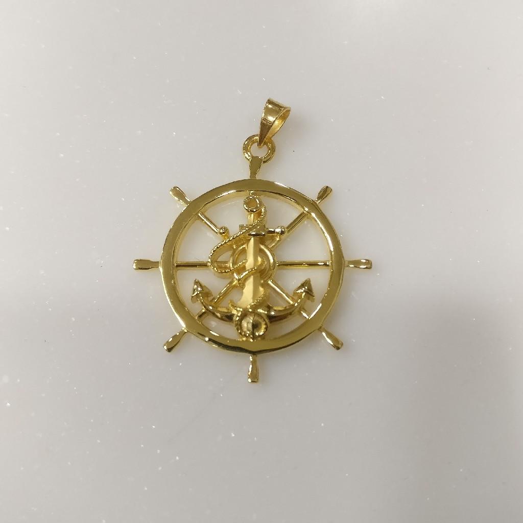 22kt gold Anchor pendant for men