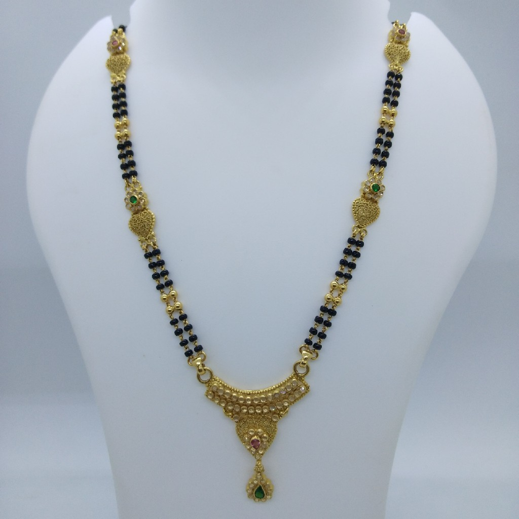 916 GOLD POLKI ANTIQUE MANGALSUTRA TJ-03TJ-037