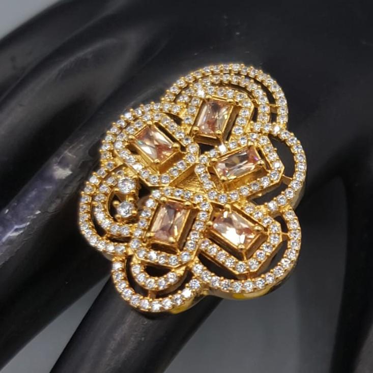 CZ diamond ring#674