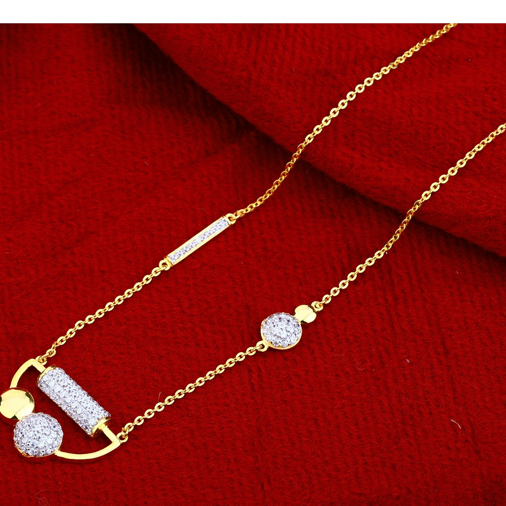 22Ct Gold  Ladies  Fancy   Chain Necklace CN116