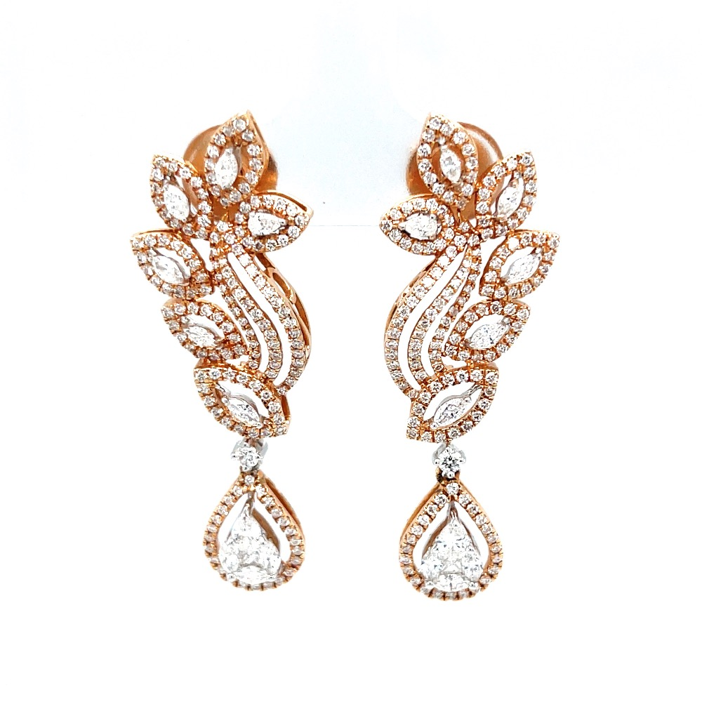 Schön Diamond Earrings with Pressure Set Drops for Party 7TOP10