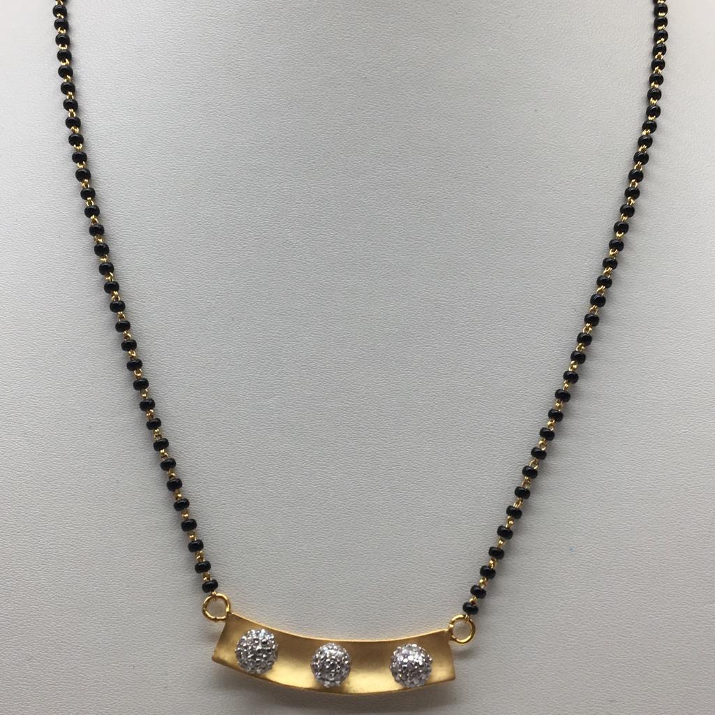 916 gold cz mangalsutra dokiya