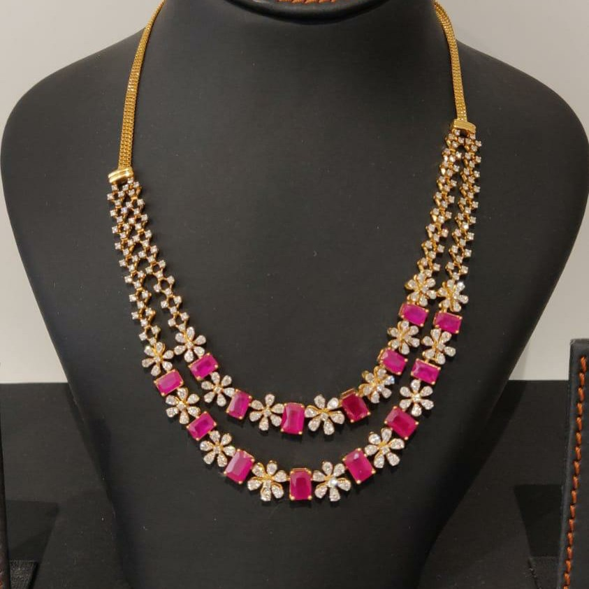 Real diamond attractive necklace
