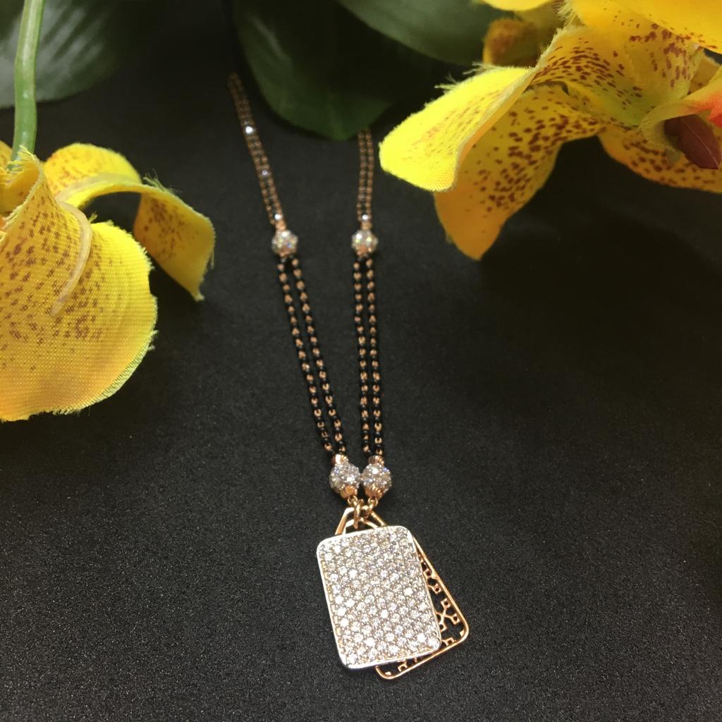 exclusive piece of rose gold  mangalsutra DOKIYA