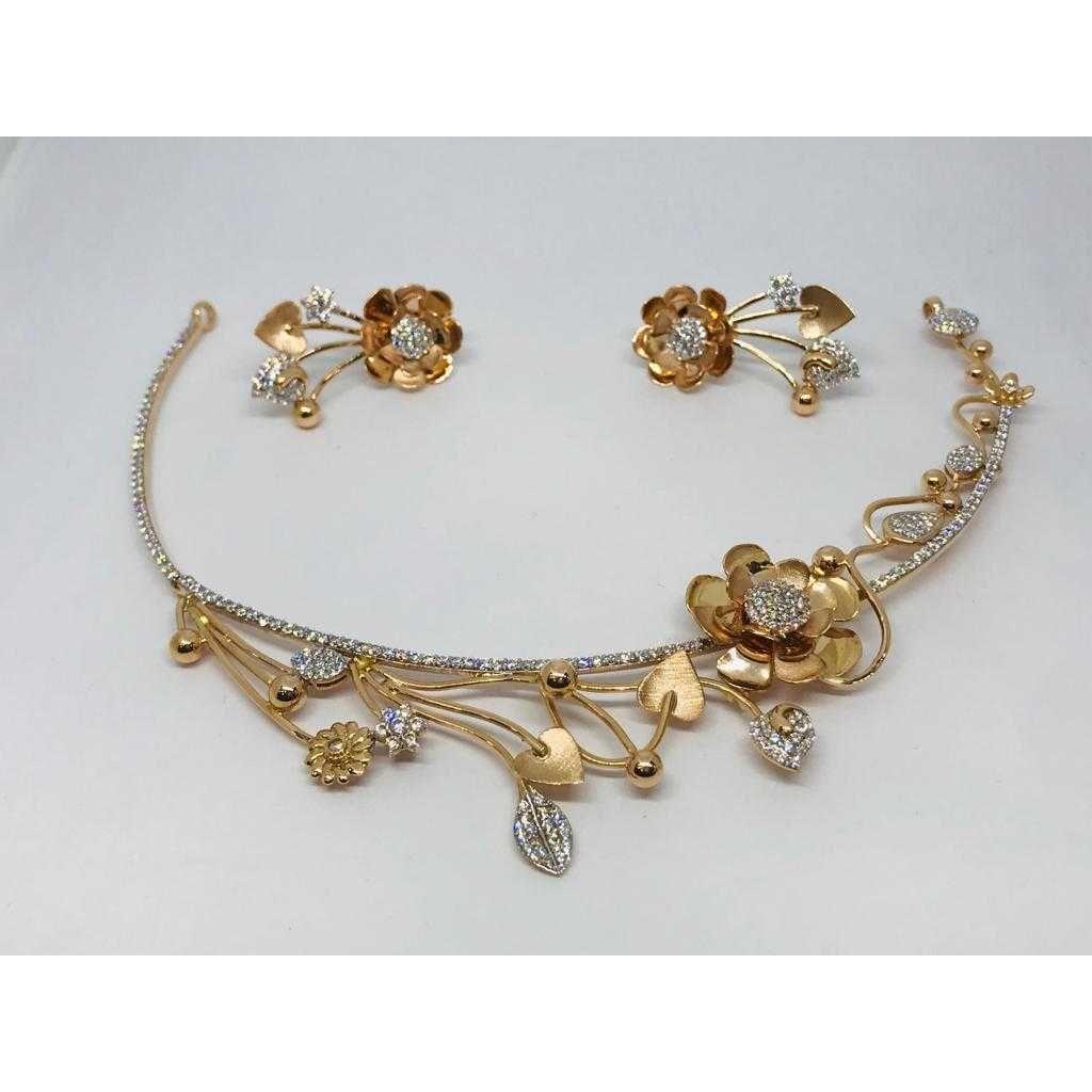 18k Ladies Fancy Gold Set S-57534