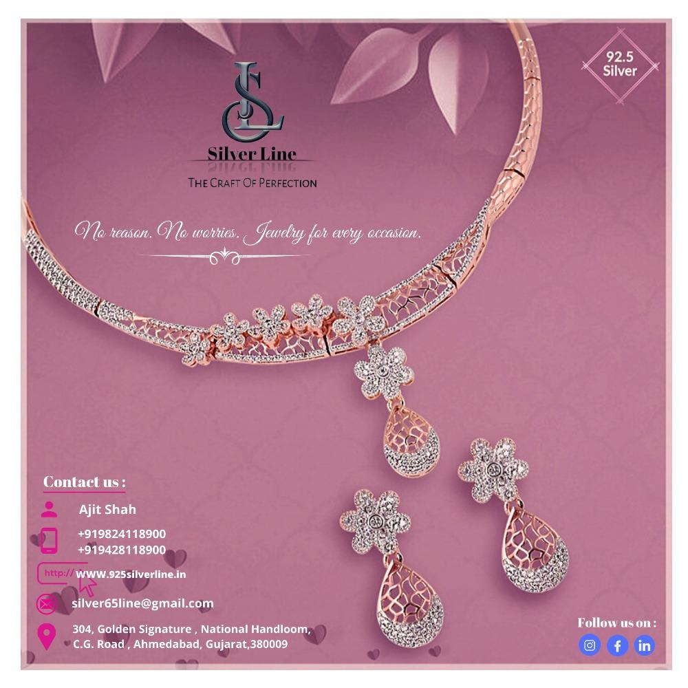 Best Design with extraordinary Craftmanship 92.5 Silver Necklace
