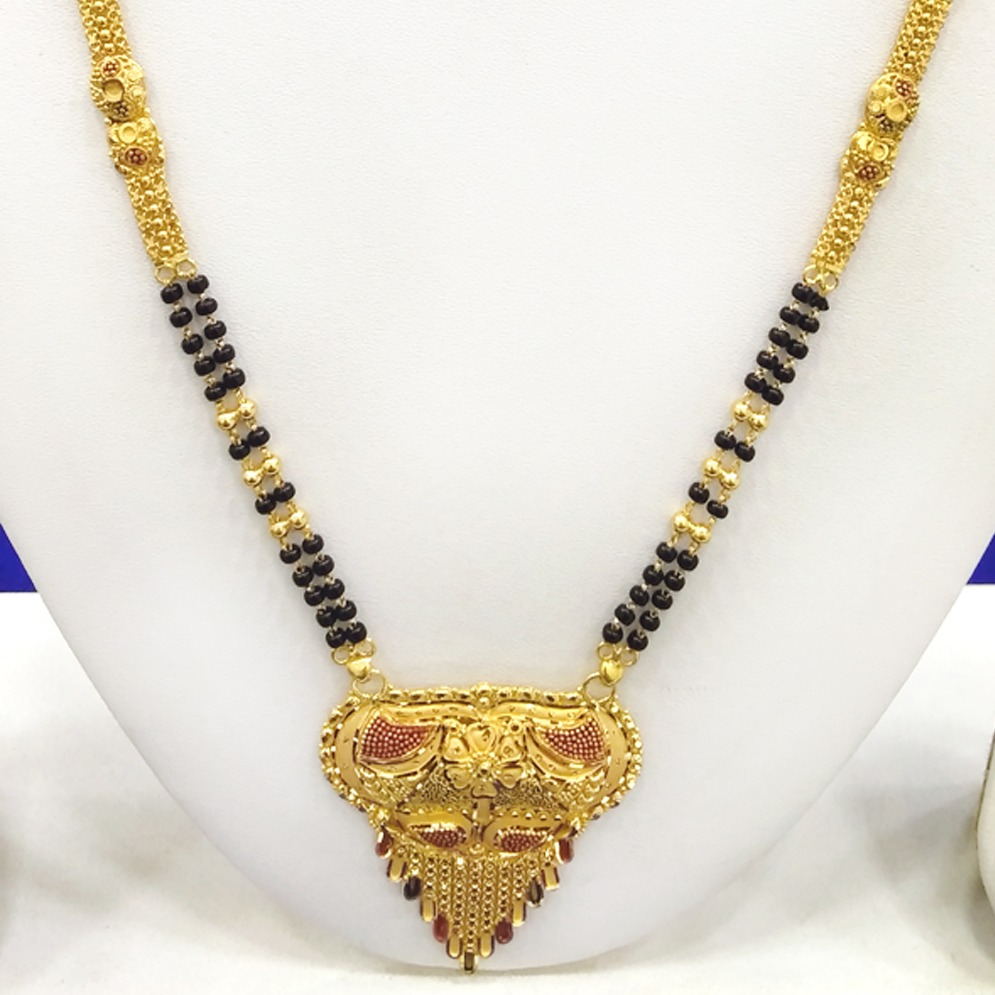 916 Gold Designer Mangalsutra RJ-M009