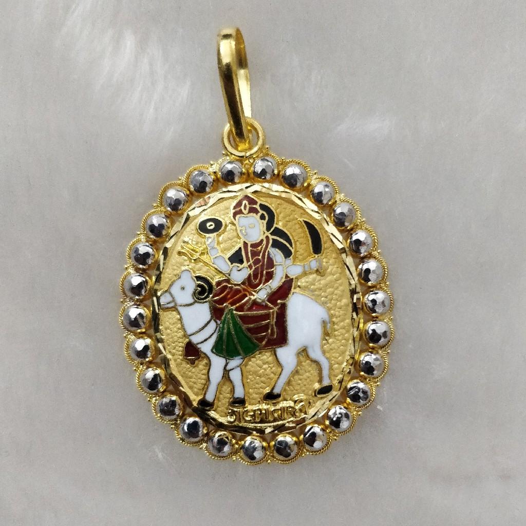 916 Gold Gent's Fancy Gel Maa Pendant