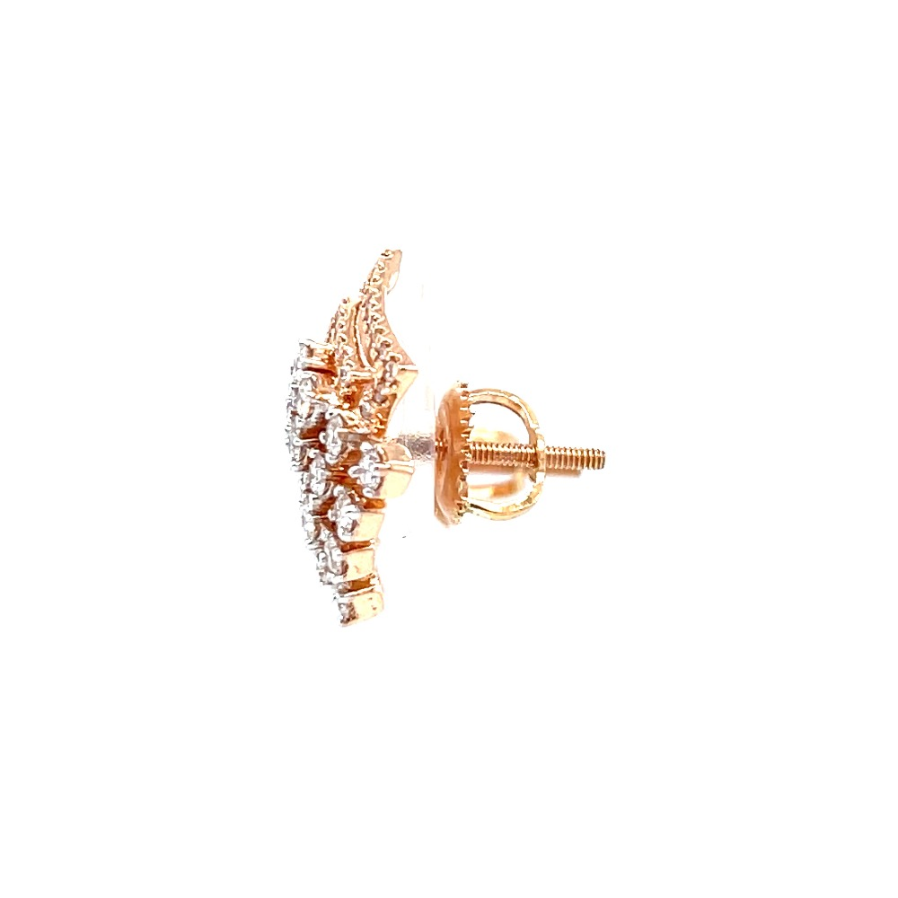 Kite shaped stud in prong setting & micro pave setting