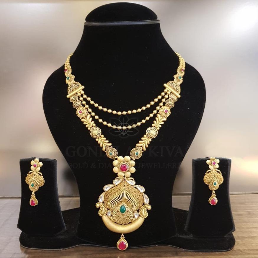 22 kt gold necklace set gnh47 - gft h/m83