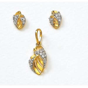 916 gold pendant set ps-362