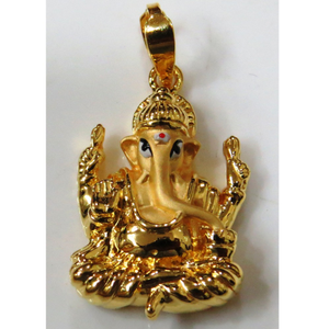 22kt gold plain casting lord ganesh design pe