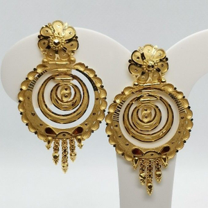 Concentric rings earring