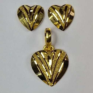 916 gold fancy pendant set akm-ps-079