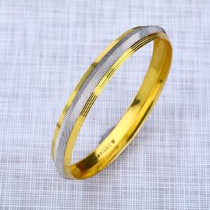 Mens 22k gold punjabi rodium kada bracelet-mp