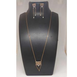 Real diamond rose gold designed chain pendant