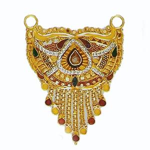 22kt gold tanmaniya culcatti pendant with ena