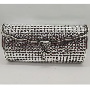 925 pure silver ladies clutch in fine nakashi