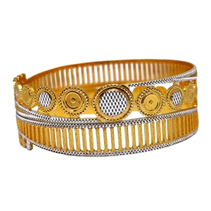 One gram gold forming round shaped designer b