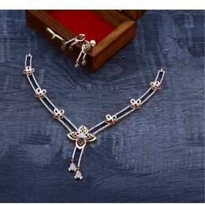 750 rose gold designer  necklace set rn73