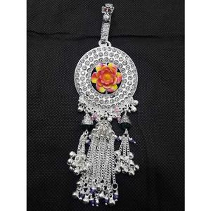 Silver attractive meenakari juda