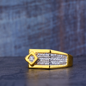 Mens cz gold ring-mr198