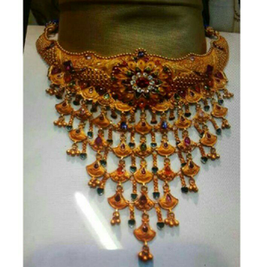 Indian traditional style gold necklace set