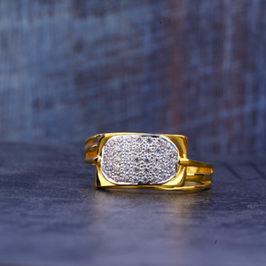 Mens gold 916 fancy ring-mr396