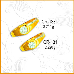 916 gold fancy cz couple ring cr-133