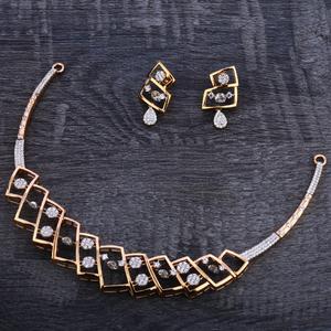 750 rose gold hallmark necklace set rn116