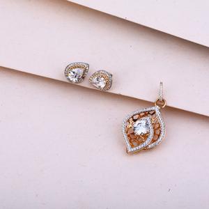 750  rose gold hallmark  pendant set rps128